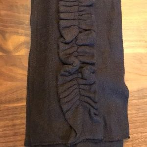 Echo chocolate brown ruffled scarf